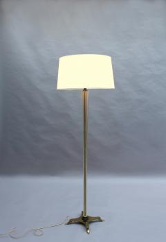 FINE FRENCH ART DECO GLASS AND BRONZE FLOOR LAMP - 992185