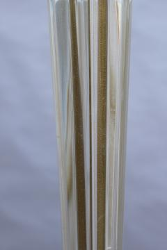 FINE FRENCH ART DECO GLASS AND BRONZE FLOOR LAMP - 992187