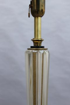 FINE FRENCH ART DECO GLASS AND BRONZE FLOOR LAMP - 992188