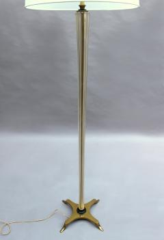 FINE FRENCH ART DECO GLASS AND BRONZE FLOOR LAMP - 992189