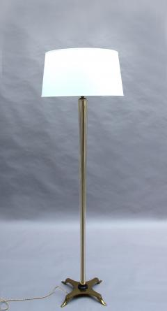 FINE FRENCH ART DECO GLASS AND BRONZE FLOOR LAMP - 992192