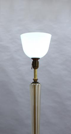 FINE FRENCH ART DECO GLASS AND BRONZE FLOOR LAMP - 992196