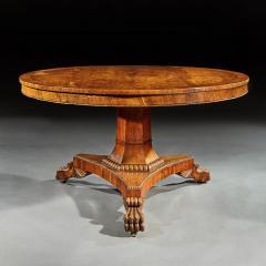 FINE REGENCY BURR OAK TILT TOP TABLE - 1747036