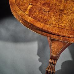 FINE REGENCY BURR OAK TILT TOP TABLE - 1747066