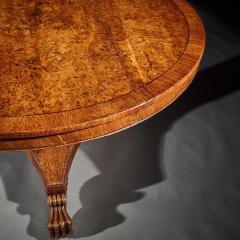 FINE REGENCY BURR OAK TILT TOP TABLE - 1747069