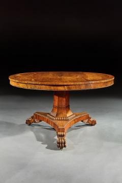 FINE REGENCY BURR OAK TILT TOP TABLE - 1747080
