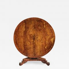 FINE REGENCY BURR OAK TILT TOP TABLE - 1750141