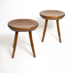 FINNISH MID CENTURY STAINED PINE STOOLS - 1113141
