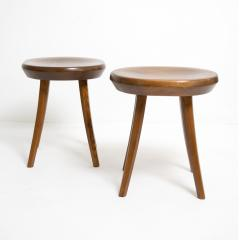FINNISH MID CENTURY STAINED PINE STOOLS - 1113146