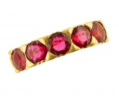 FIVE STONE RUBY BAND 18K YELLOW GOLD - 1933880