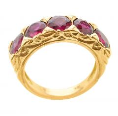 FIVE STONE RUBY BAND 18K YELLOW GOLD - 1933882