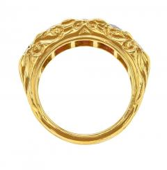 FIVE STONE RUBY BAND 18K YELLOW GOLD - 1933883
