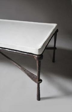 FORGED IRON TABLE BASE WITH PLASTER TOP - 1189711