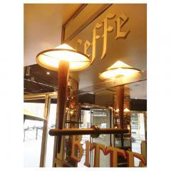 FOUR sconces from the Cafe Francais France 1970 - 961664