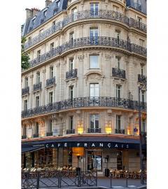 FOUR sconces from the Cafe Francais France 1970 - 961665
