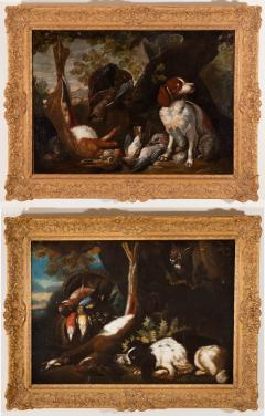FRANZ WERNER VON TAMM PAIR OF HUNTING STILL LIFE PAINTINGS OF SPANIELS Late 17th century - 1794056