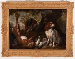 FRANZ WERNER VON TAMM PAIR OF HUNTING STILL LIFE PAINTINGS OF SPANIELS Late 17th century - 1794057