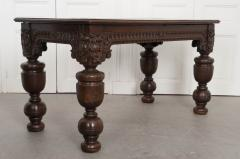 FRENCH 18TH CENTURY HAND CARVED OAK CENTER TABLE - 943124