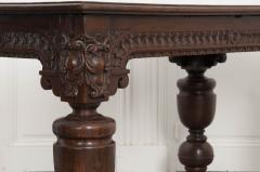 FRENCH 18TH CENTURY HAND CARVED OAK CENTER TABLE - 943125