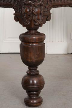 FRENCH 18TH CENTURY HAND CARVED OAK CENTER TABLE - 943126