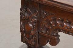 FRENCH 18TH CENTURY HAND CARVED OAK CENTER TABLE - 943141