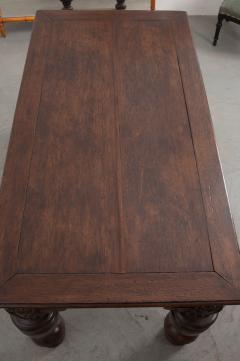 FRENCH 18TH CENTURY HAND CARVED OAK CENTER TABLE - 943144