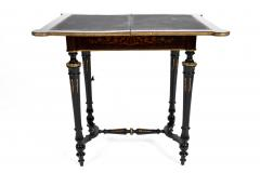 FRENCH 19TH CENTURY LOUIS PHILLIPHE INLAID GAME SIDE TABLE  - 1239842