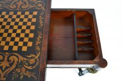 FRENCH 19TH CENTURY LOUIS PHILLIPHE INLAID GAME SIDE TABLE  - 1239846