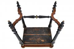FRENCH 19TH CENTURY LOUIS PHILLIPHE INLAID GAME SIDE TABLE  - 1239853