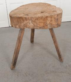 FRENCH 19TH CENTURY PROVINCIAL TREE TRUNK CHOPPING BLOCK - 882356