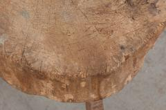 FRENCH 19TH CENTURY PROVINCIAL TREE TRUNK CHOPPING BLOCK - 882360