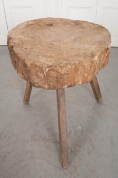 FRENCH 19TH CENTURY PROVINCIAL TREE TRUNK CHOPPING BLOCK - 882363