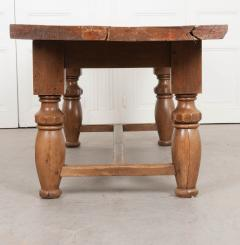FRENCH 19TH CENTURY REFECTORY STYLE OAK FARMHOUSE TABLE - 955876