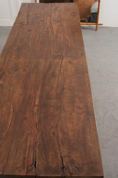 FRENCH 19TH CENTURY REFECTORY STYLE OAK FARMHOUSE TABLE - 955881