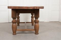 FRENCH 19TH CENTURY REFECTORY STYLE OAK FARMHOUSE TABLE - 955882