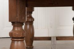 FRENCH 19TH CENTURY REFECTORY STYLE OAK FARMHOUSE TABLE - 955884