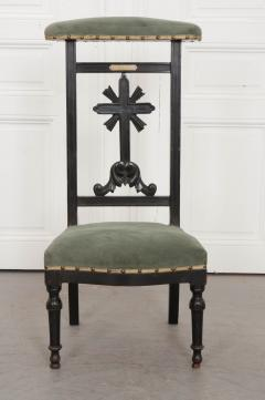 FRENCH 19TH CENTURY UPHOLSTERED AND EBONIZED PRIE DEUX - 955764