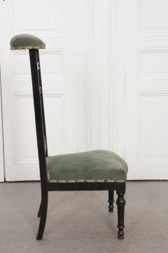 FRENCH 19TH CENTURY UPHOLSTERED AND EBONIZED PRIE DEUX - 955765