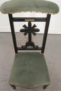 FRENCH 19TH CENTURY UPHOLSTERED AND EBONIZED PRIE DEUX - 955767