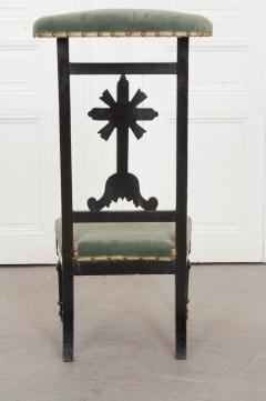 FRENCH 19TH CENTURY UPHOLSTERED AND EBONIZED PRIE DEUX - 955768