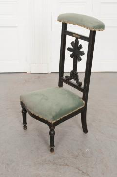 FRENCH 19TH CENTURY UPHOLSTERED AND EBONIZED PRIE DEUX - 955769