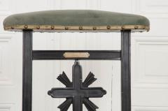 FRENCH 19TH CENTURY UPHOLSTERED AND EBONIZED PRIE DEUX - 955770