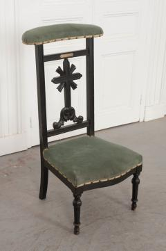 FRENCH 19TH CENTURY UPHOLSTERED AND EBONIZED PRIE DEUX - 955772