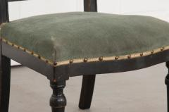 FRENCH 19TH CENTURY UPHOLSTERED AND EBONIZED PRIE DEUX - 955773
