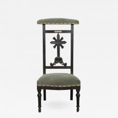 FRENCH 19TH CENTURY UPHOLSTERED AND EBONIZED PRIE DEUX - 957220