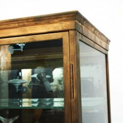 FRENCH ART DECO BRASS AND GLASS VITRINE DISPLAY CABINET - 2114523
