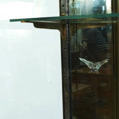 FRENCH ART DECO BRASS AND GLASS VITRINE DISPLAY CABINET - 2114525