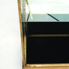 FRENCH ART DECO BRASS AND GLASS VITRINE DISPLAY CABINET - 2114528