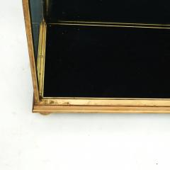 FRENCH ART DECO BRASS AND GLASS VITRINE DISPLAY CABINET - 2114529