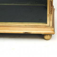 FRENCH ART DECO BRASS AND GLASS VITRINE DISPLAY CABINET - 2114530